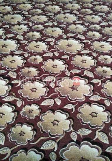 Палас 3Д 3642 бело-коричневый