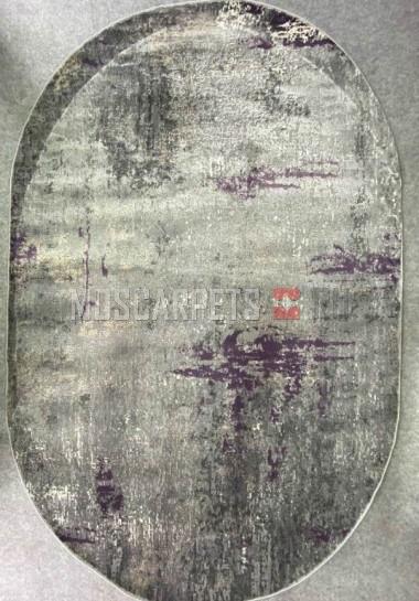 Ковер Asiris 9158а L.GREY овал