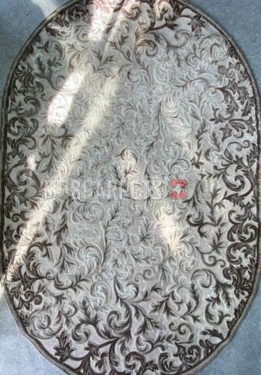 Ковер VERONIKA 0007A коричнево-кремовый овал
