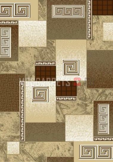 Палас Гермес 1733 бежево-коричневый