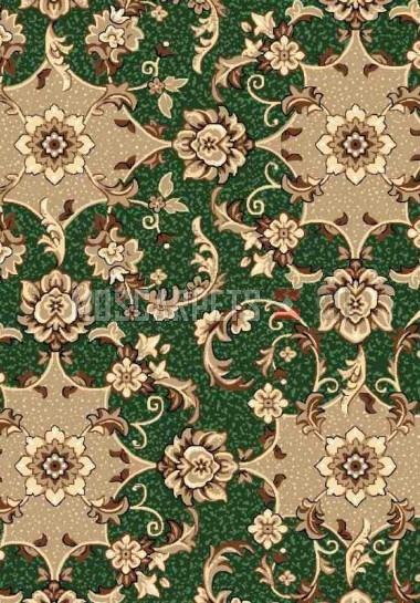 Палас Аида 602 коричнево-зеленый