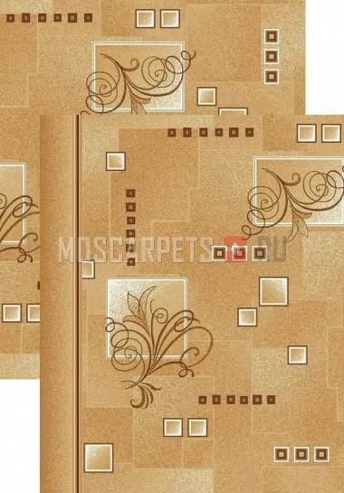 Палас Виноградная лоза 1098/43 бежево-коричневый
