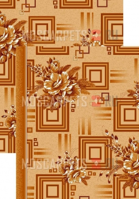 Палас Астра 1145/43 бежево-коричневый
