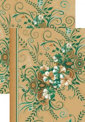 Палас Букет 1187/36 бежево-зеленый