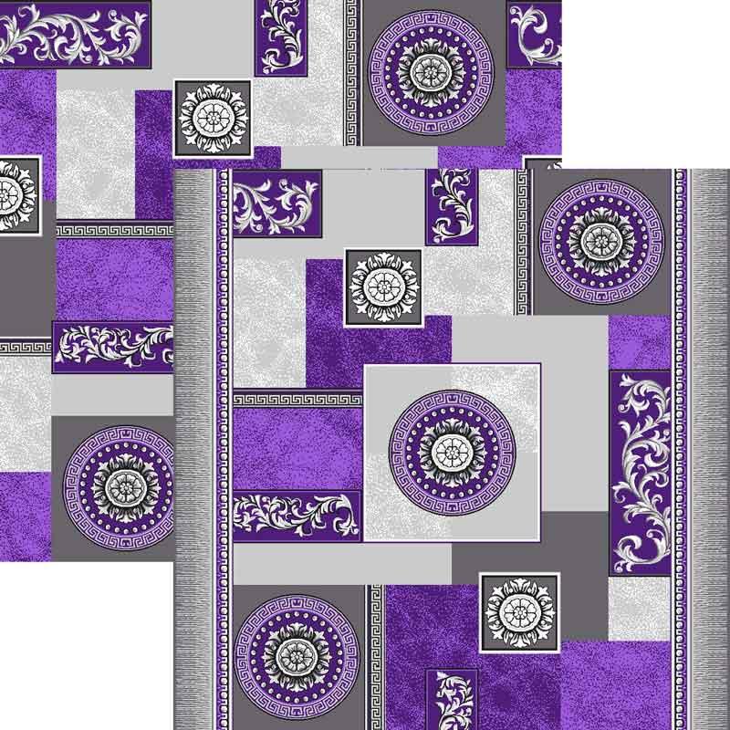 Палас Гелиос 1518/50 серо-фиолетовый