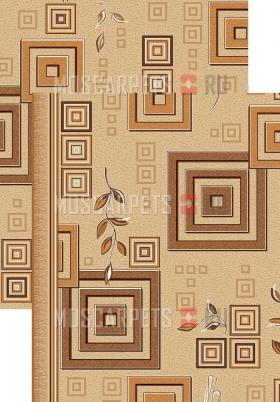 Палас Версачи 1257/43 бежево-коричневый