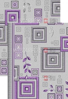 Палас Версачи 1257/50 серо-фиолетовый