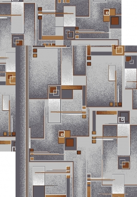 Палас Матрица 966/54 серо-коричневый