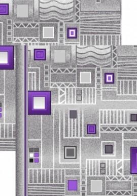 Палас Плата 1035/50 серо-фиолетовый