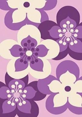 Ковер Paradise L110 фиолетовый