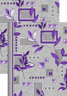 Палас Ветви 1166/50 серо-фиолетовый