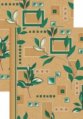 Палас Ветви 1166/36 бежево-зеленый