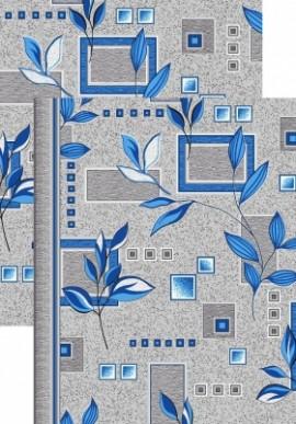Палас Ветви 1166/47 серо-голубой