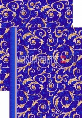Палас Рококо 1243/37 синий