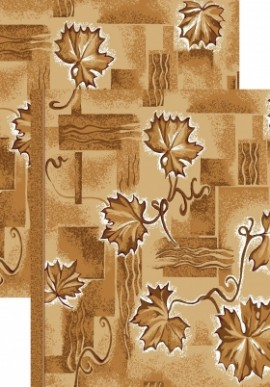 Палас Лист 1302/43 бежево-коричневый