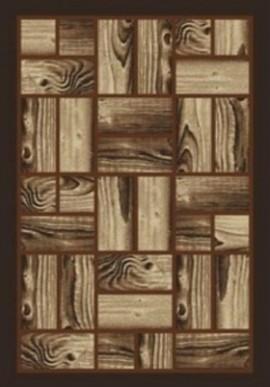 Ковер Asos 0657A коричневый