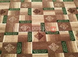 Палас Рустик 6028 зелено-коричневый