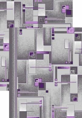 Палас Матрица 966/50 серо-фиолетовый