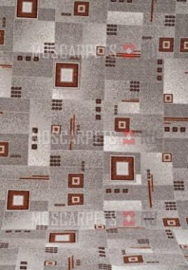 Палас Квадрат 1170/54 серо-коричневый