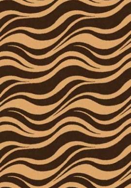 Ковер Шагги Комфорт S609 коричневый+темно-беж