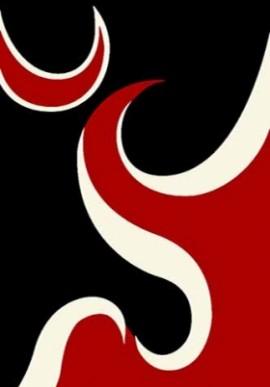 Ковер Вижн Делюкс V116 черно-красный