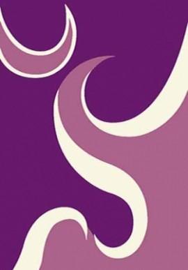 Ковер Вижн Делюкс V116 фиолетовый-кость