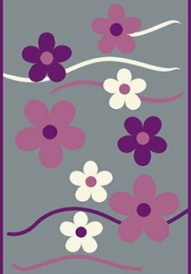 Ковер Вижн Делюкс V117 серо-фиолетовый