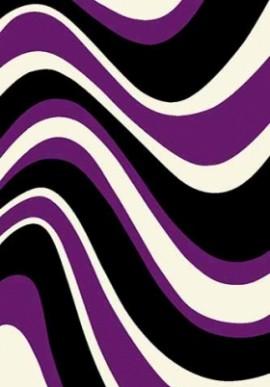 Ковер Вижн Делюкс V802 черно-фиолетовый