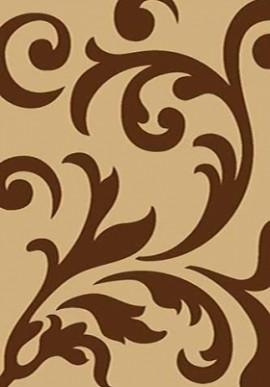 Ковер Вижн Делюкс D129 бежево-коричневый