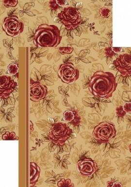 Палас Роза коричневый