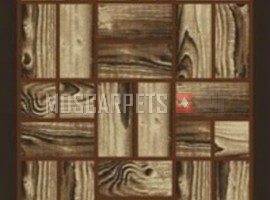 Ковер Asos 657A прямоугольник коричневый