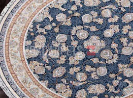 Ковер FARSI 1500-G136 DARK BLUE круг