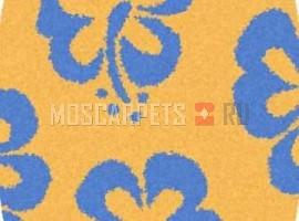 Ковер SHAGGY ULTRA S605 YELLOW-BLUE овал