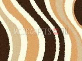 Ковер SHAGGY ULTRA S607 BEIGE-BROWN круг