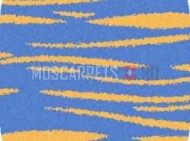 Ковер SHAGGY ULTRA S608 BLUE-YELLOW овал