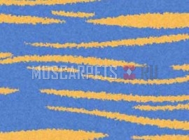 Ковер SHAGGY ULTRA S608 BLUE-YELLOW прямоугольник