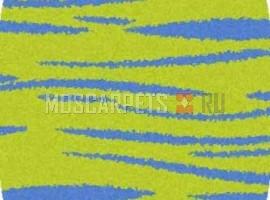 Ковер SHAGGY ULTRA S608 GREEN-BLUE овал