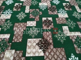 Палас о. Самарканд 6028 зелено-коричневый