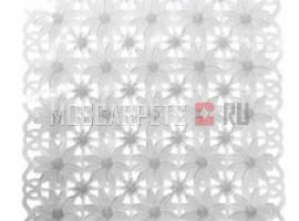 Коврик SPA-коврик SHAHINTEX ромашка белый