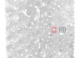 Коврик SPA-коврик SHAHINTEX камушки с ракушками белый