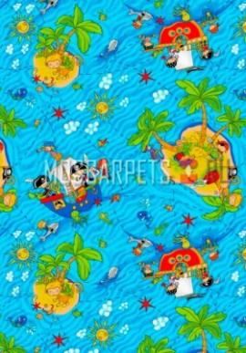 Палас Острова голубой