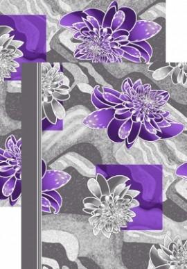 Палас Кувшинка 1073/50 серо-фиолетовый