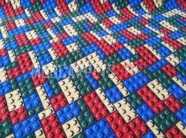 Палас Лего 1313 красный