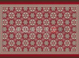 Палас Азия 3128 красный (карпет)