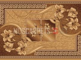 Палас Альба 1723 (карпет) бежево-коричневый