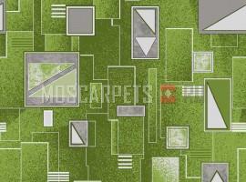 Палас Алмаз 6025 серо-зеленый