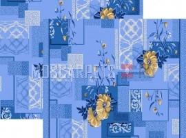 Палас Азалия 1253b5/37 бежево-синий