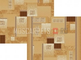 Палас Греция 1286e2/43 бежево-коричневый