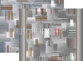 Палас Контур 9026 серо-коричневый