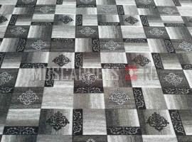 Палас Рустик 9122 серо-черный